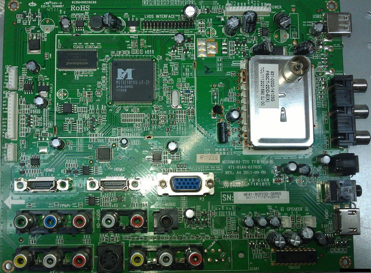 Rubin rb-32k101u схема