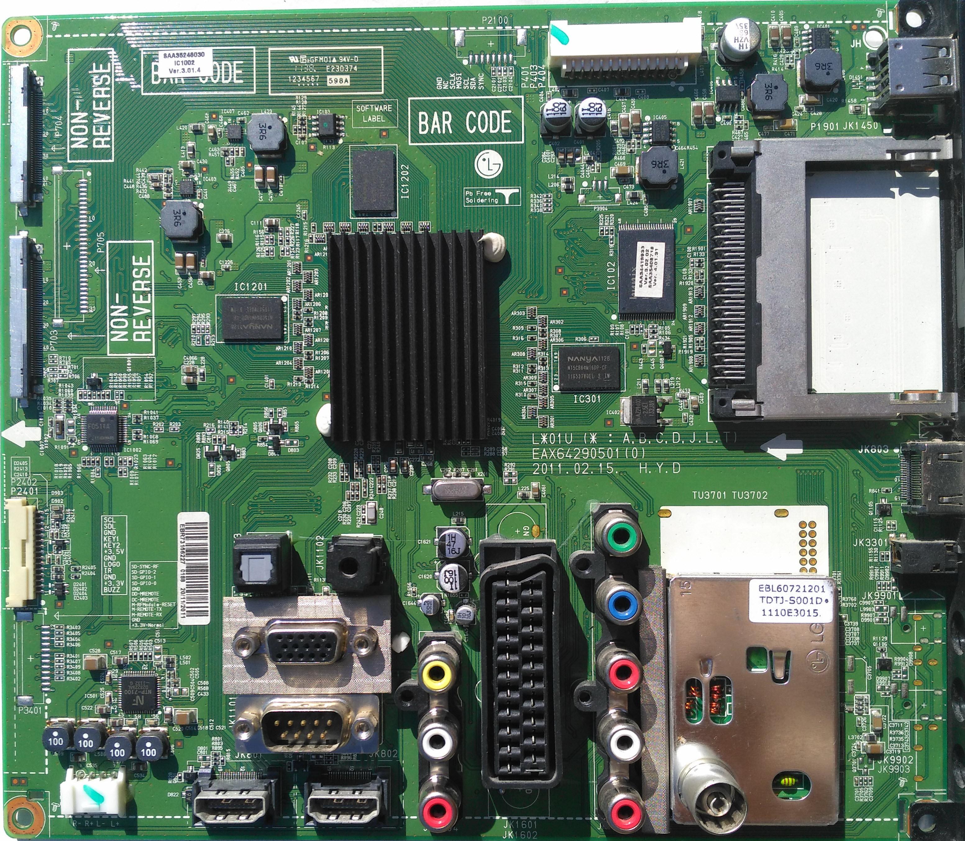 LG 42LW4500  Ремонт, схема, сервис