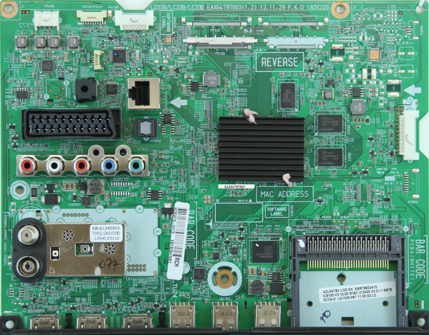 LG 42LA644V  Ремонт, схема, сервис