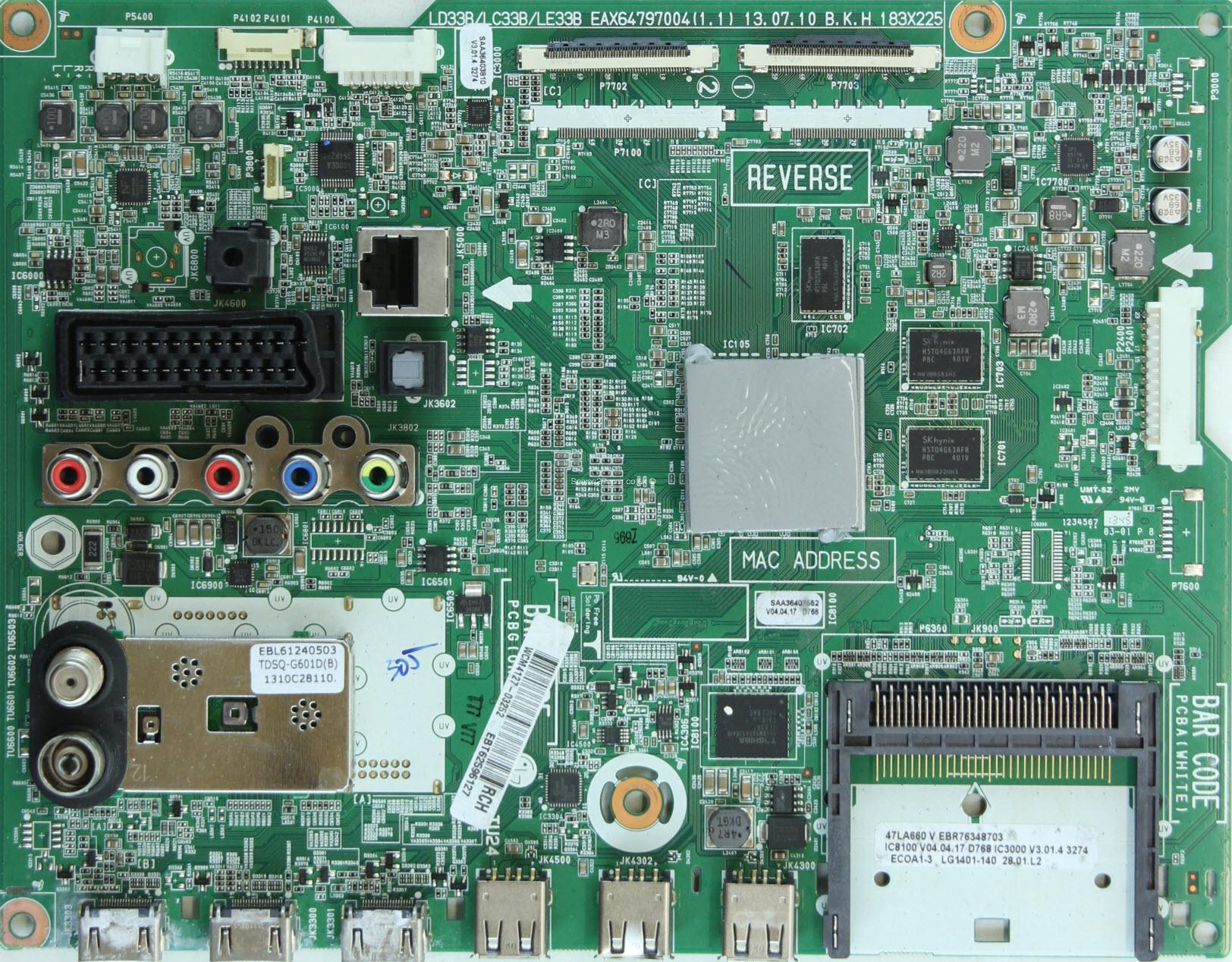 LG 42LA660S  Ремонт, схема, сервис