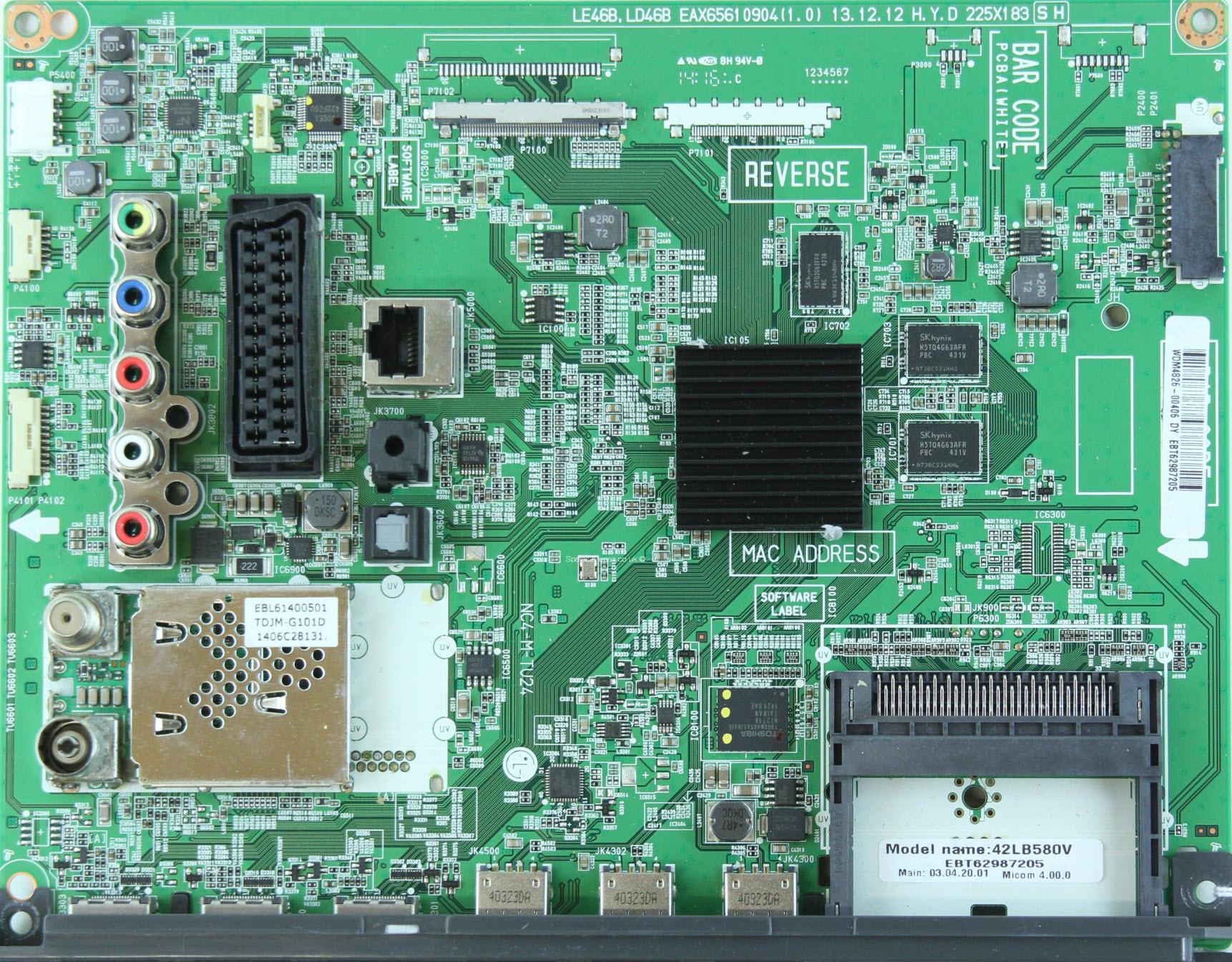LG 32LB570U  Ремонт, схема, сервис