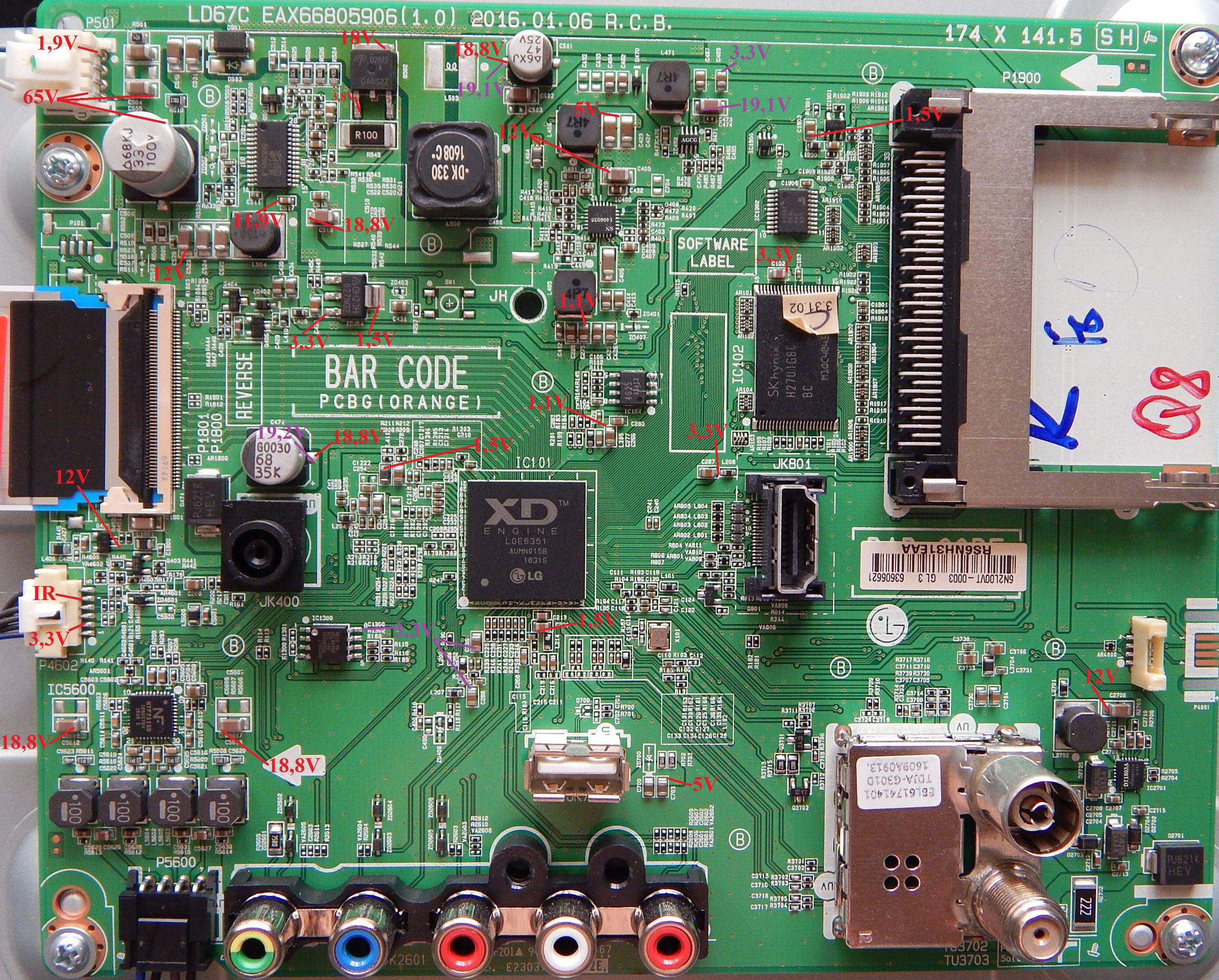 LG 43LH513V  Ремонт, схема, сервис